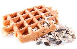 Waffles от объединенное wholegrain Стоковое фото RF