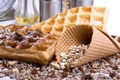 Waffles от объединенное wholegrain Стоковые Изображения