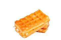 Waffles при изолированная сливк Стоковые Фото