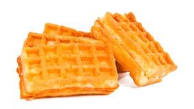 Waffles при изолированная сливк Стоковое Изображение RF