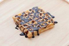 waffles расплавленные шоколадом Стоковая Фотография RF