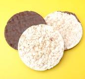 Waffles риса с шоколадом Стоковые Фотографии RF
