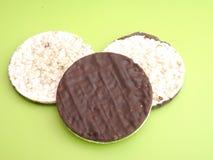 Waffles риса с шоколадом Стоковое Изображение RF