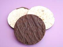 Waffles риса с шоколадом Стоковое фото RF