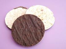 Waffles риса с шоколадом Стоковое Изображение