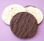 Waffles риса с шоколадом Стоковые Фото