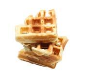 Waffles стога бельгийские изолированные на белизне Стоковые Изображения RF