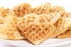 waffles стога формы сердца стоковое изображение rf