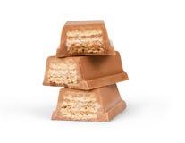Waffles с шоколадом на белой предпосылке Стоковое фото RF