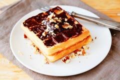 2 waffles с шоколадом Стоковое Изображение