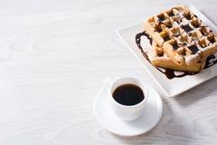 Waffles с шоколадом Стоковое Изображение RF