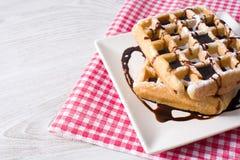 Waffles с шоколадом Стоковая Фотография