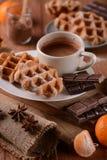 Waffles с шоколадом Стоковое фото RF