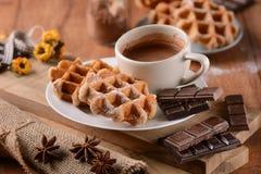 Waffles с шоколадом Стоковые Фотографии RF