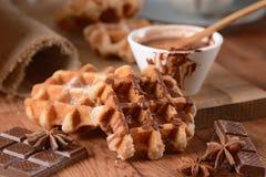 Waffles с шоколадом Стоковое Изображение