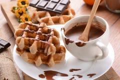 Waffles с шоколадом Стоковая Фотография RF