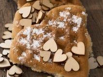 Waffles формы сердца Стоковое Фото