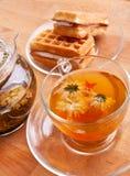 waffles чая Стоковая Фотография