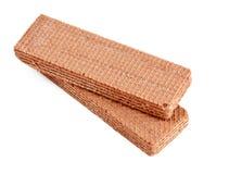 2 waffles шоколада Стоковое Изображение
