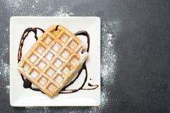 Waffles шоколада Стоковая Фотография