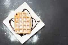 Waffles шоколада Стоковая Фотография RF
