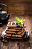 Waffles шоколада Стоковое Фото