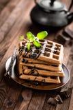 Waffles шоколада Стоковое Изображение RF