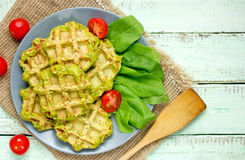 Waffles шпината Стоковая Фотография RF