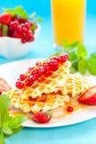 waffles ягод Стоковые Изображения
