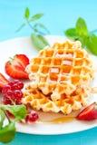waffles ягод Стоковое фото RF