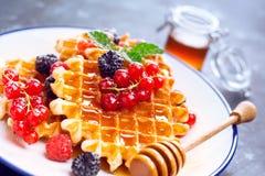 waffles ягод свежие Стоковое Изображение