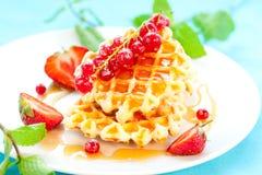 waffles ягод Стоковая Фотография RF