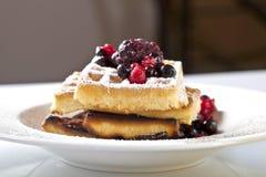 Waffles ягод Стоковая Фотография