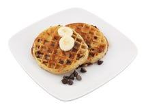 Waffles для завтрака детей Стоковое фото RF
