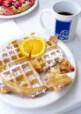 Waffles для завтрака Стоковые Изображения