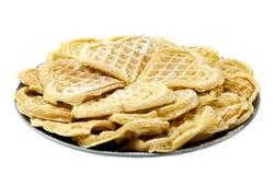 Waffles на белизне Стоковые Изображения