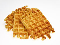 Waffles. Arranged on white background Royalty Free Stock Images