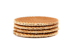 Waffles. In a stack isolated over white background Stock Photography