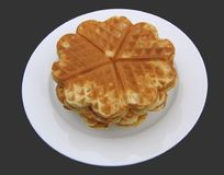 Waffles. Stack of scandinavian waffle hearts Royalty Free Stock Image