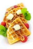 Waffles belgas fotos de stock