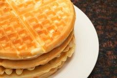 Waffles belgas foto de stock