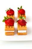 Waffles belgas Imagens de Stock Royalty Free