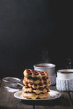 Waffles belgas Fotografia de Stock