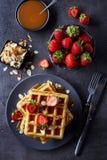 Waffles belgas Foto de Stock Royalty Free