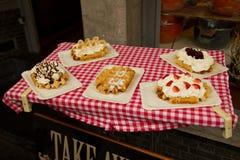 Waffles belgas genuínos Imagem de Stock Royalty Free