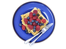 Waffles with berries Royalty Free Stock Image