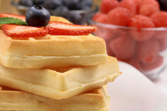 Waffles and berries Royalty Free Stock Photo