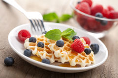 ... cream pie waffles flaxseed waffles with berries and honey cream pink