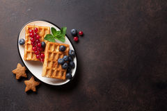 Waffles and berries Stock Image