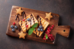 Waffles and berries Stock Photo